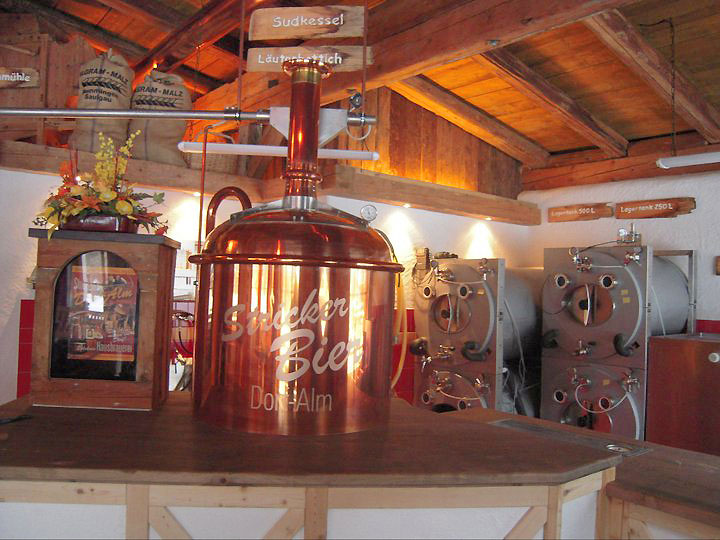 Brauerei-Kessel in der Dorf-Alm in Holzgau im Lechtal
